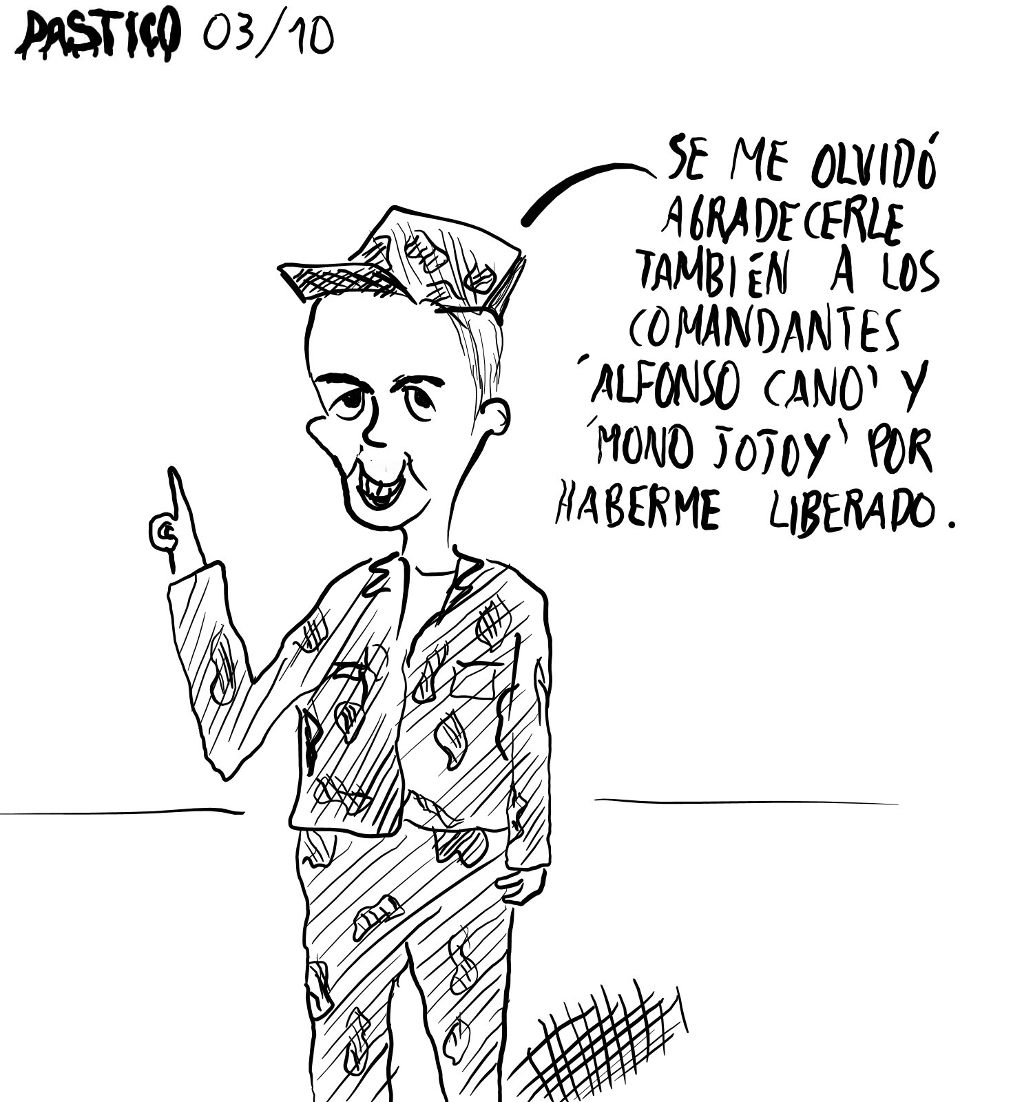 Dibujos de Pastico: Los agradecimientos de Moncayo