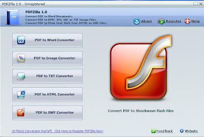 PDFZilla - Convert PDF to Word, HTML, Images 1