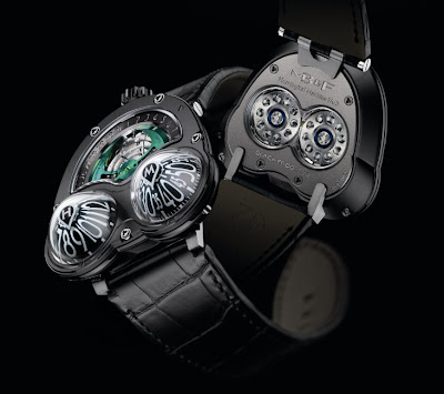 Montre Maximilian Büsser & Friends Horological Machine No3 Frog titane pvd noir - HM3