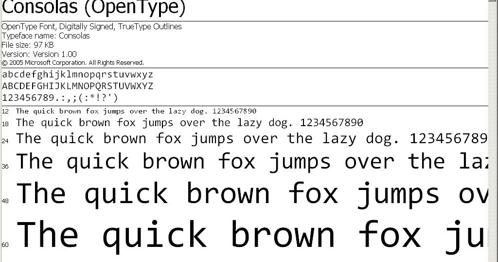 Dan Dar3: Consolas Font Pack for Microsoft Visual Studio