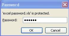 kotak password excel
