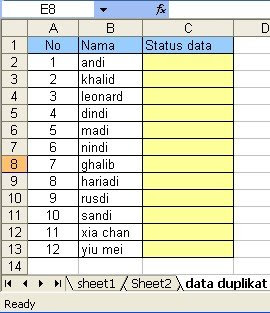 duplikat data excel