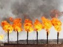 Flaring gas in Rumaila Basra Iraq