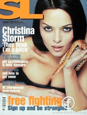 Christina naked claire magazine