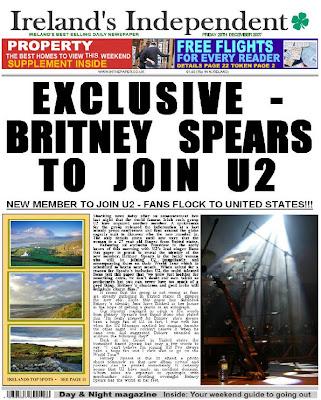 Britney Spears y U2: ¿Broma?