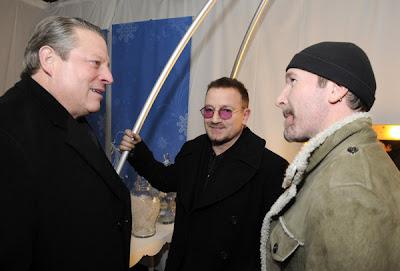 Bono, The Edge y Al Gore en Sundance