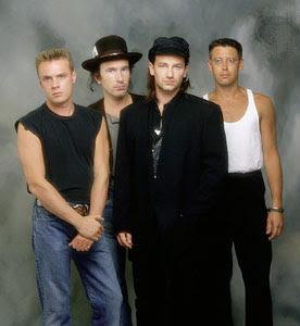 U2: Bono, Edge, Adam y Larry