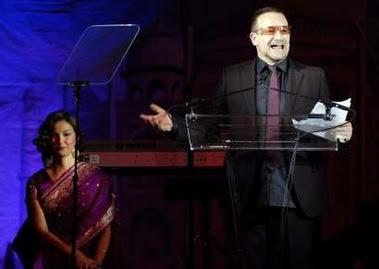 Bono en la gala YouthAIDS 1