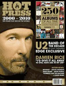 Edge para Hot Press en Diciembre de 2009