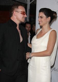 Bono y Penelope Cruz en Cannes 2008