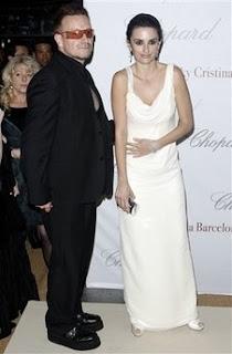 Bono y Penelope Cruz en el festival de cine de Cannes 2008