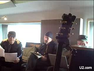 Bono, Edge y Daniel Lanois