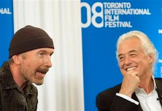 The Edge y Jimmy Page de Led Zeppelin