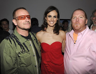 Bono, Claudia Bassols, Mario Batali