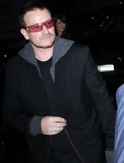 Bono en la fiesta por Darfur
