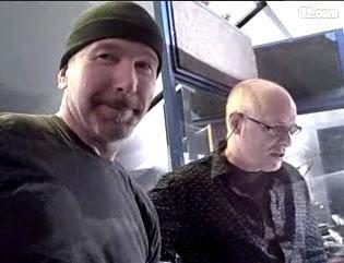 Edge y Eno en Dublin