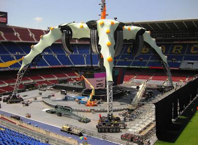 La Garra, escenario de U2 Camp Nou, Barcelona