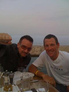 Bono y Lance Armstrong en Monaco