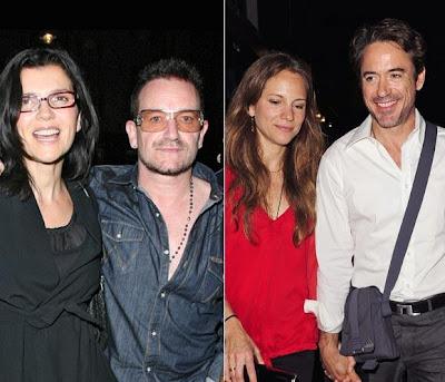 Bono y Robert en Londres