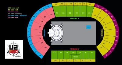 U2 Bruselas entradas estadio