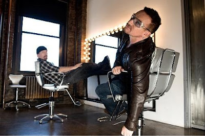 Bono y Edge fotografiados por John Wright