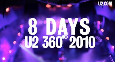 U2 360 Tour - Cuenta atrás Turín - 8 días.