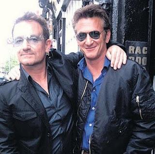 Bono y Sean Penn en Dublin