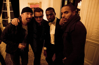 Bono, Edge, Lenny y West en Paris 2