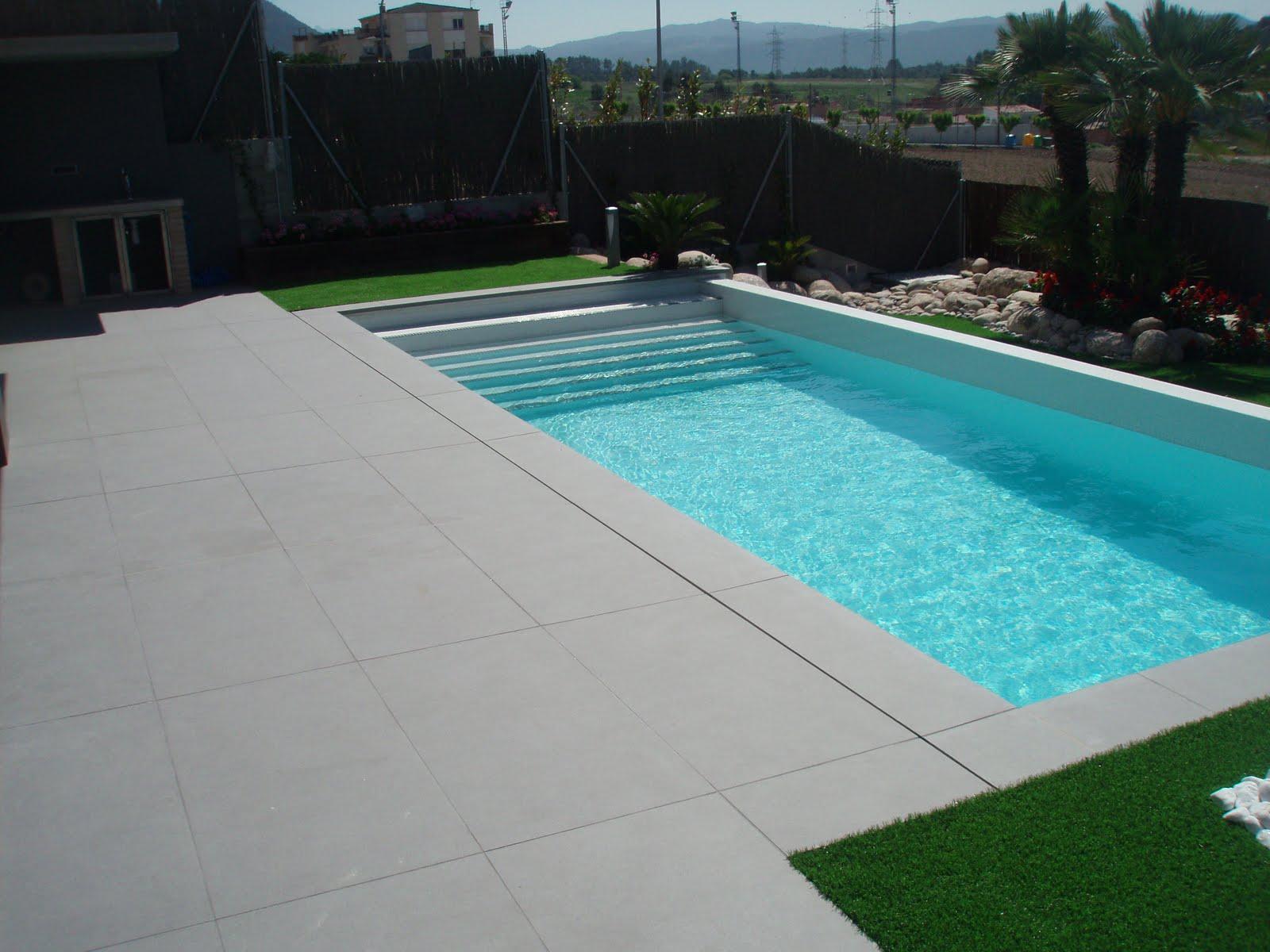 Rosa gres serena modernidad con imagina for Diseno hidraulico de una piscina