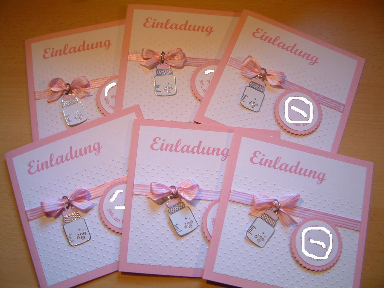 Einladungskarten Richtig Selbst Gestalten So Geht S: Marions Bastelstübchen: Taufeinladungskarten