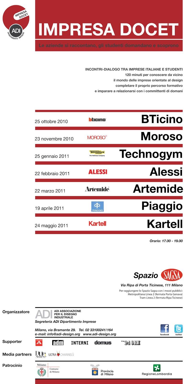 Incontri tra studenti e aziende italian design impresa docet for Aziende design milano