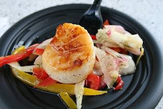 Seared Sea Scallops & Vegetable Slaw with Lemon Vinaigrette New Zealand 4