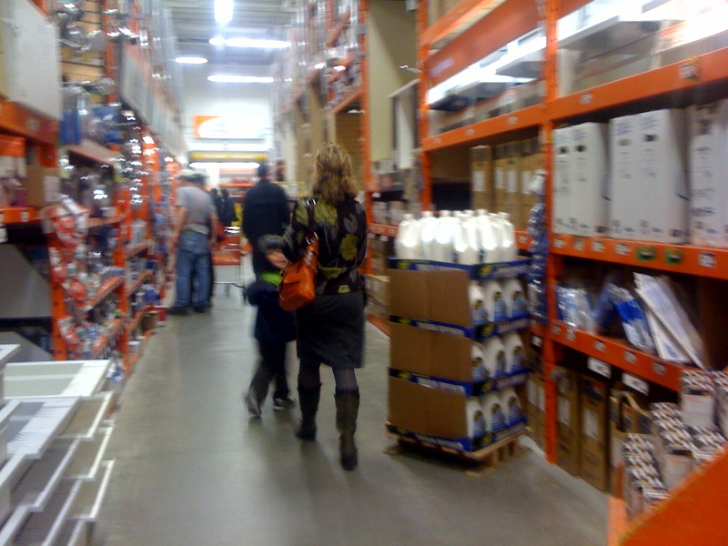 Milf ass in hone depot
