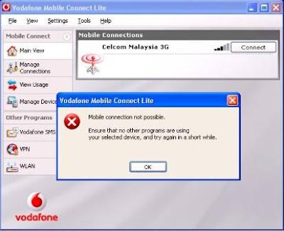 Vodafone Mobile Connect Error Get Profile Failed