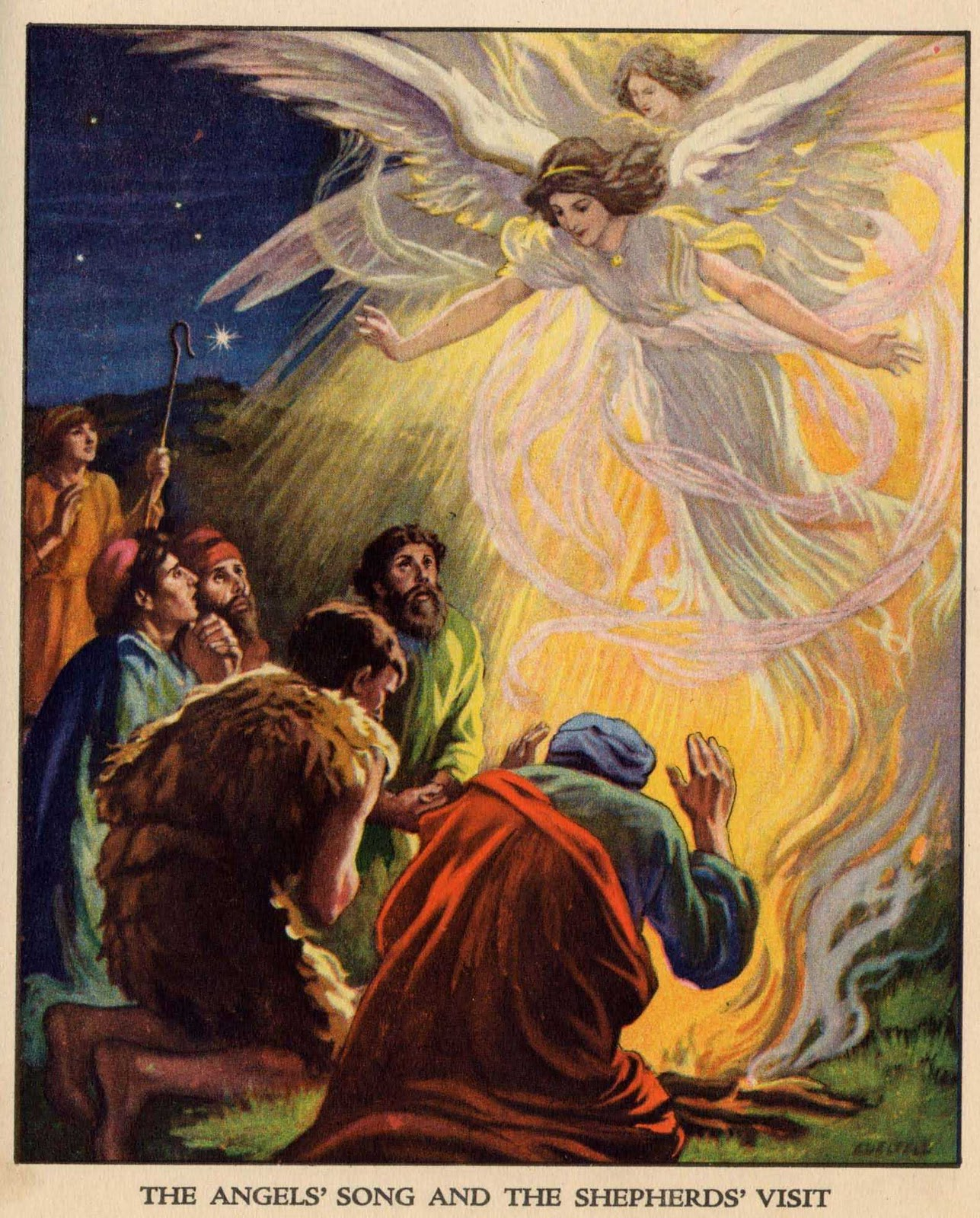 angels sing to shepherds - photo #9