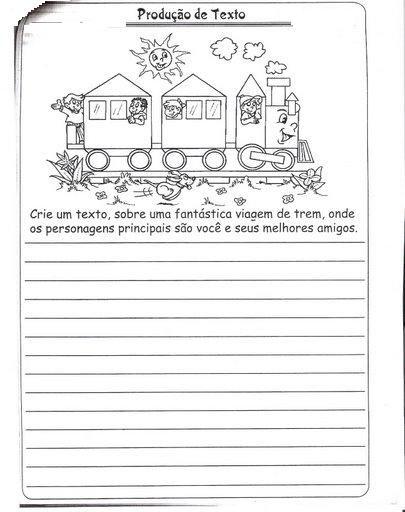 Producao Textual Para 2º Ano Ensinando Com Carinho