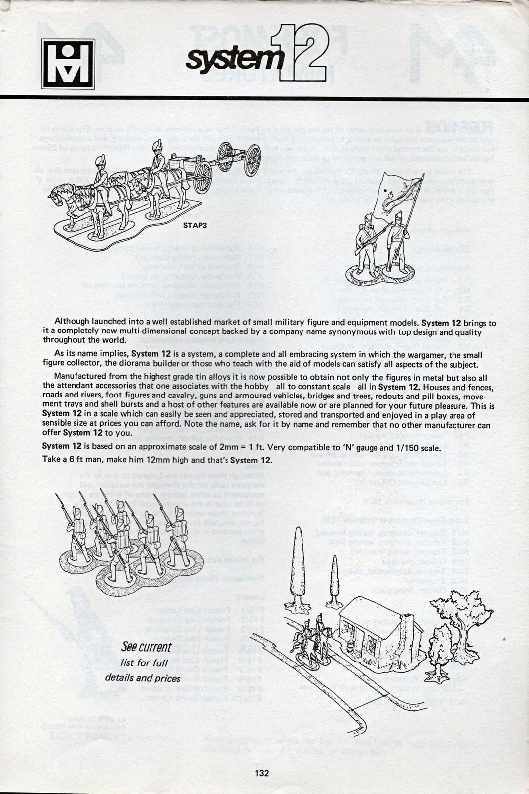Vintage Wargaming Hinchliffe System 12