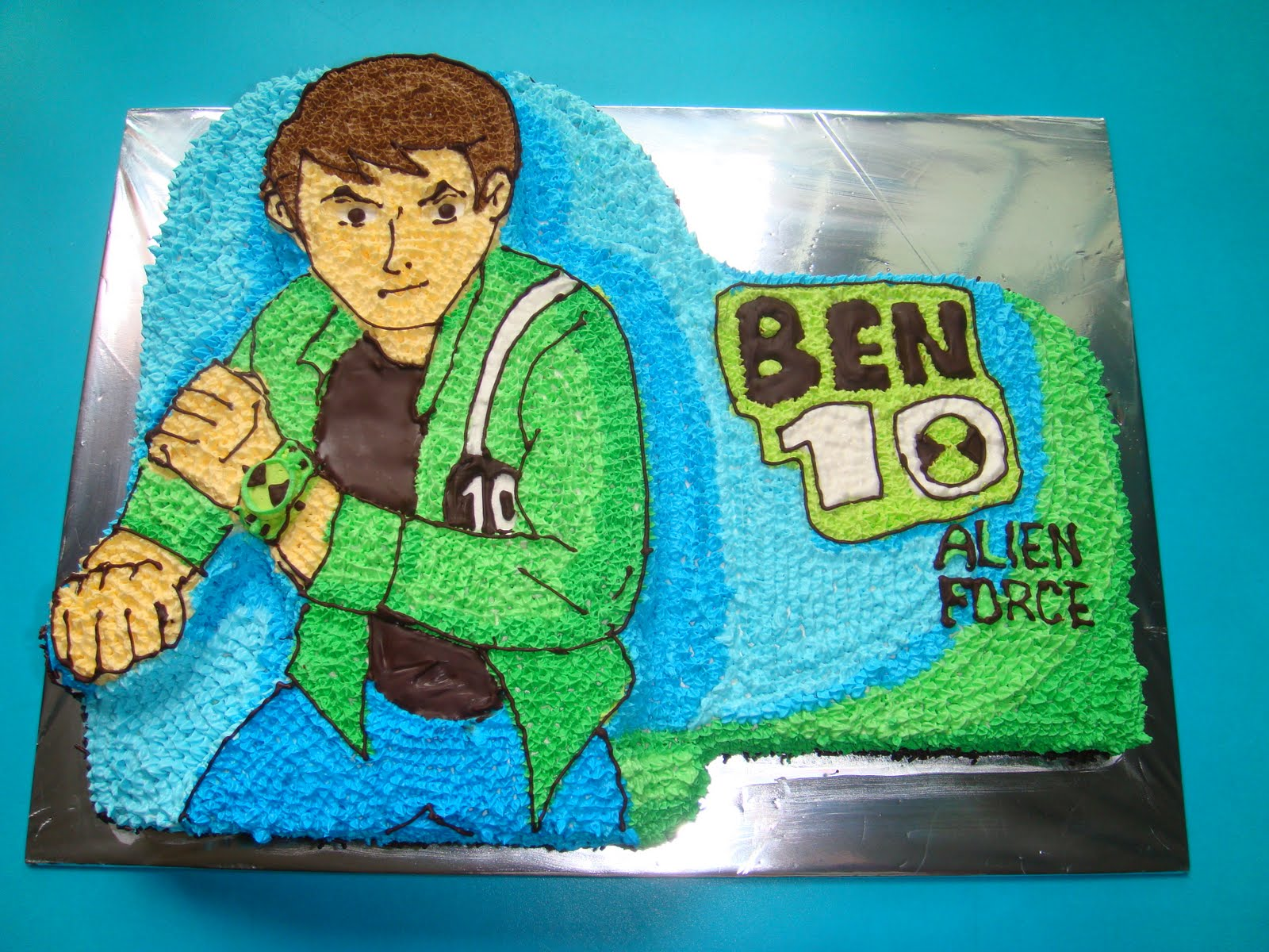 Yummy Baking Ben 10 Birthday Cake