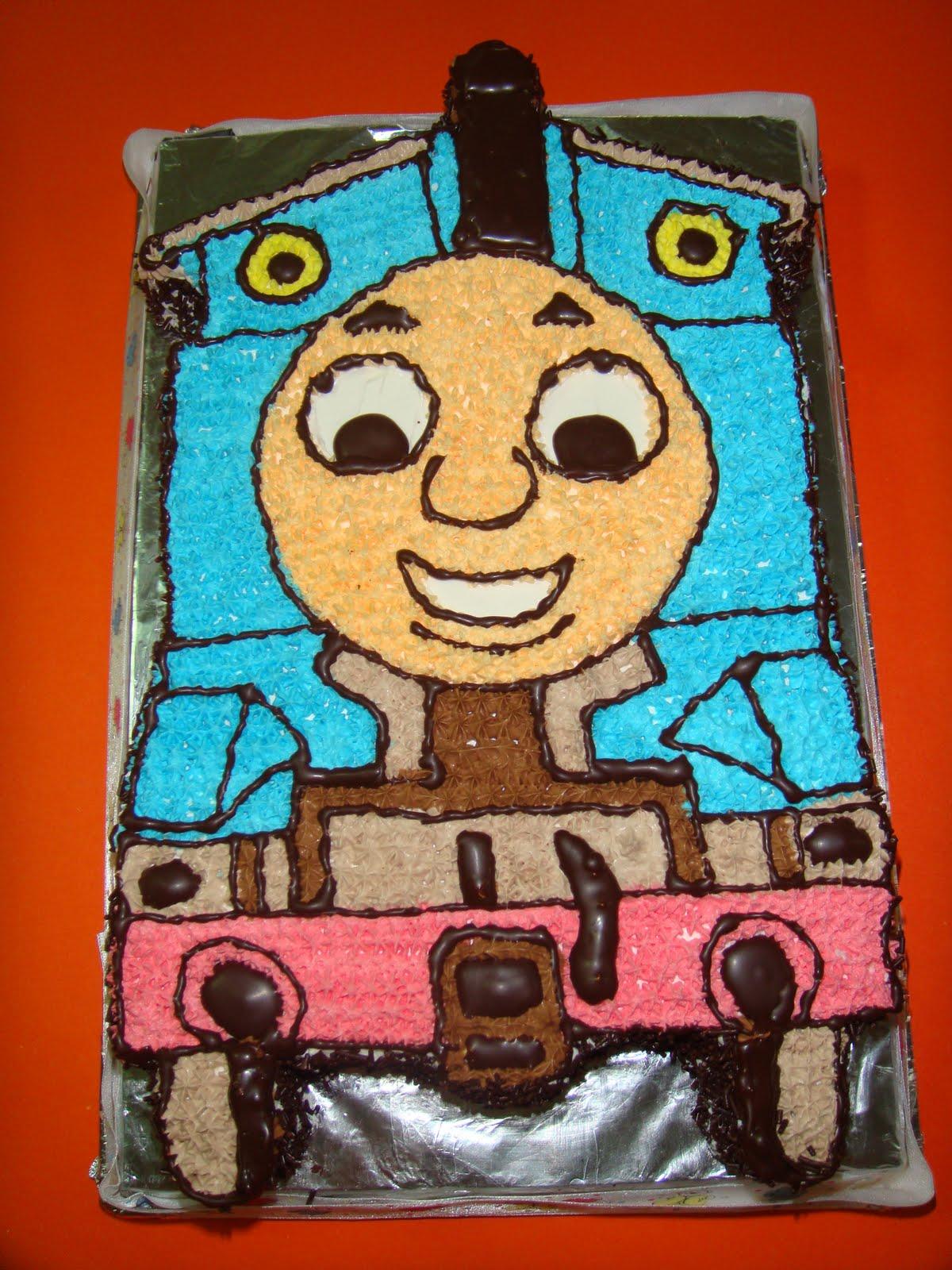 Yummy Baking Thomas The Train Birthday Cake D1