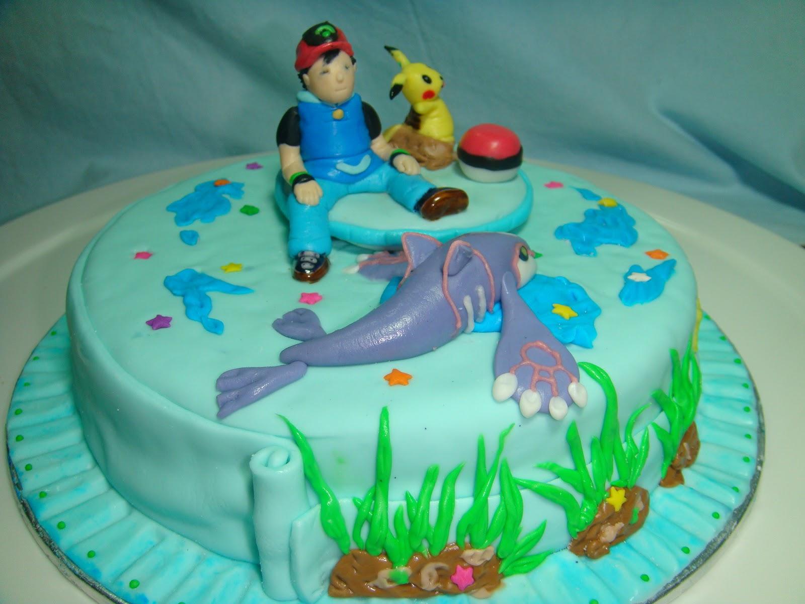 Yummy Baking Pokemon Fondant Cake