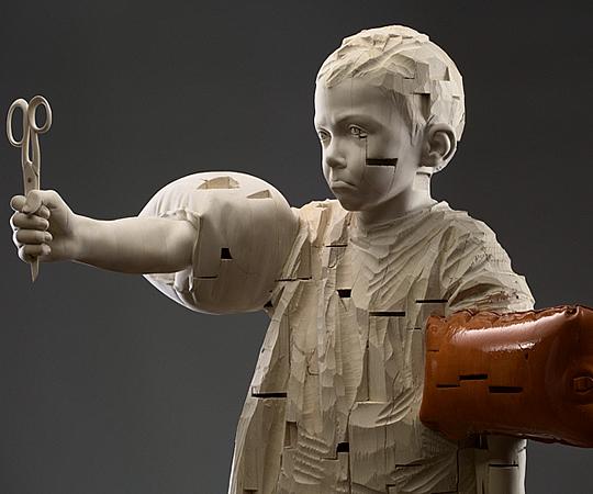 Esculturas em Madeira por Gehard Demetz - 02