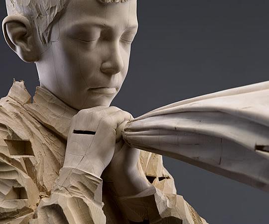 Esculturas em Madeira por Gehard Demetz - 04