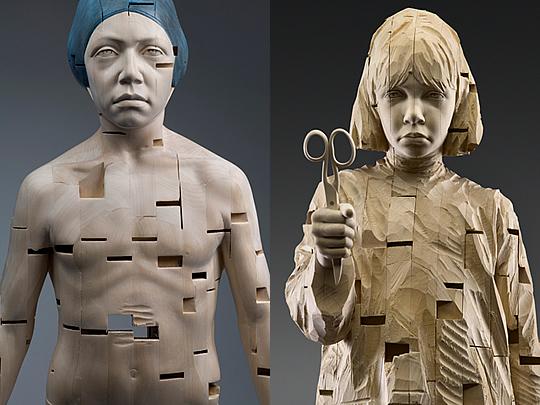 Esculturas em Madeira por Gehard Demetz - 06