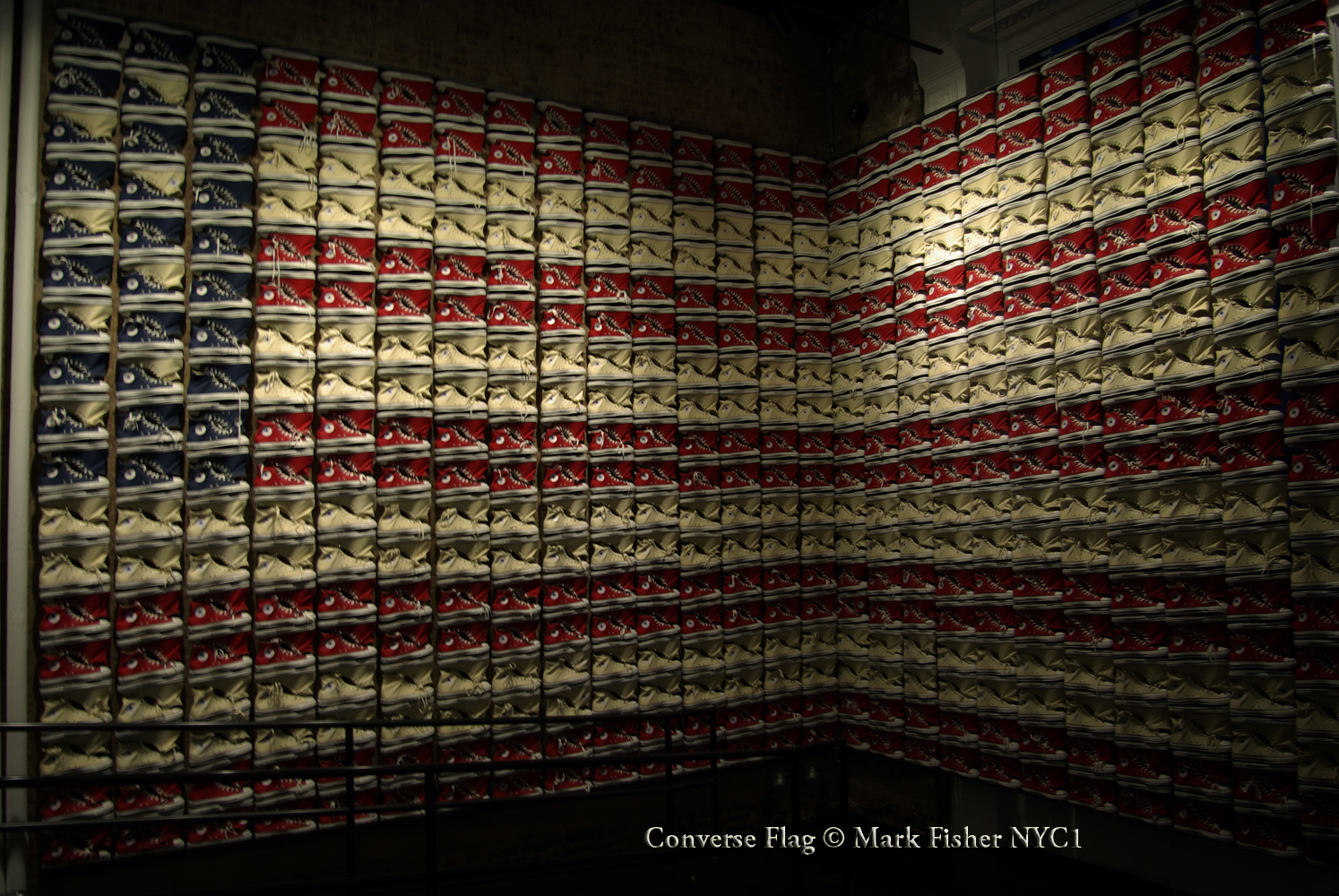 83a4e07334fe PHOTOGRAPHER MARK FISHER IMAGES  New York Converse Store • Shoe Flag ...