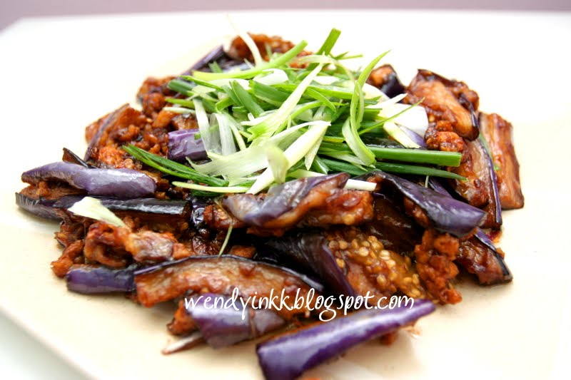 Chinese recipe eggplant minced pork