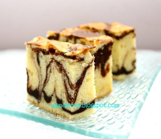 Marble Butter Sponge Cake Recipe