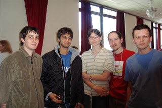 Gaurav With Czek Team @ 4th World Sudoku Championship 2009 Zilina Slovakia