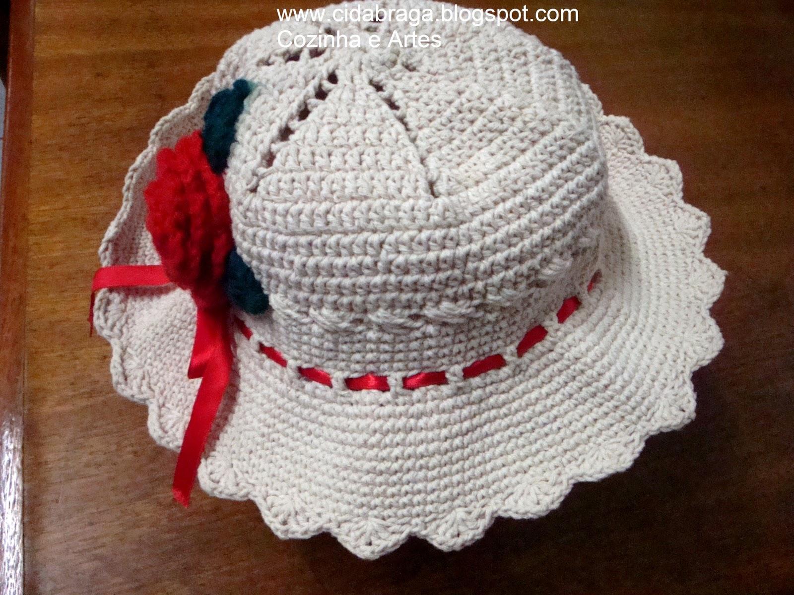 Mais um chapéu de crochê !!! é todo feito em barbante... não tenho  gráfico 0228eb39be9