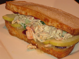 Taco Tuesday Chicken Salad And Cranberry Brie Toast