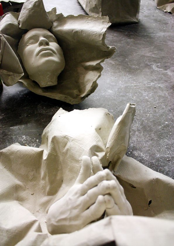 Drapery Plaster Cast Studies | Alexander Biserama Becherer